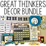 Great Thinkers Classroom Decor Bundle - Editable Classroom