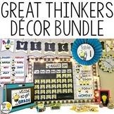 Great Thinkers Classroom Decor Bundle - Editable Classroom