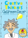 Great Thinkers Classroom Decor Set {Creative Thinking}