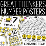 Editable Number Charts and More! - Great Thinkers Classroom Decor