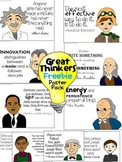 Great Thinkers Poster Pack {Freebie!}