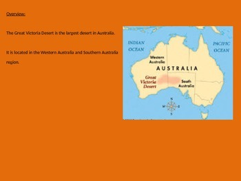Great Victoria Desert - Power Point Information Pictures Facts History