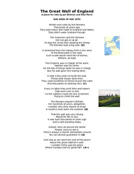 Great Wall Poem Use When Teaching Rome 6th Grade By Amanda Lis