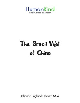 Great Wall of China Lesson Extension Packet