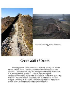 Great Wall of China Picture Cards