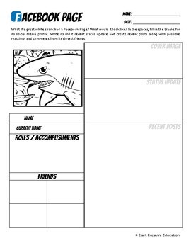 Great White Shark -- 10 Resources -- Coloring Pages, Reading & Activities
