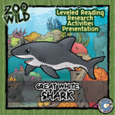 Great White Shark - 15 Zoo Wild Resources - Leveled Reading, Slides & Activities