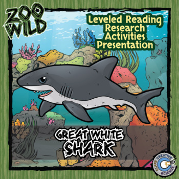 Great White Shark -- 10 Resources -- Coloring Pages, Readi