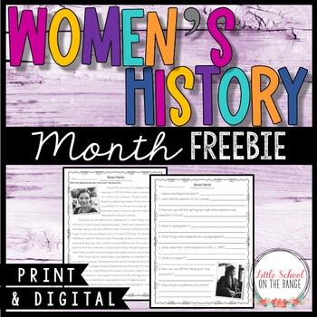 Women's History Month FREEBIE - Rosa Parks