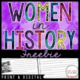 Women's History Month FREEBIE - Distance Learning