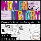 Women's History Month - No-Prep Unit
