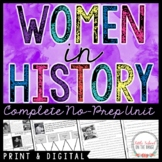 Women's History Month Unit and Reading Passages | Distance Learning | Google