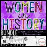 Women's History Month BUNDLE   Distance Learning   Google