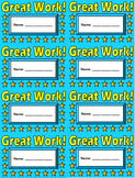 Great Work Punch Cards