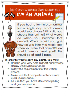 FREE Great Writer's Race Q & A, Writing Rubric, Activities Common Core