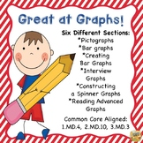 Reading Graphs - Great at Graphs!  Common Core 1.MD.4, 2.MD.10, 3.MD.3