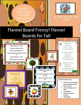 Great for Circle and Storytime! Fall-Themed Flannel Boards