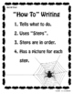 """Great for Halloween ~ Writing """"How To"""" Stories"""