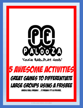 Great games to Differentiate Large Groups with a FRISBEE