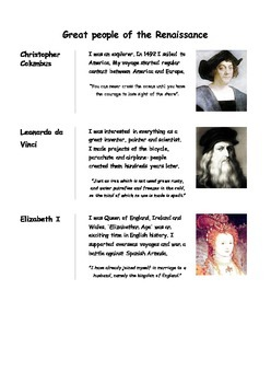 Great people of the Renaissance