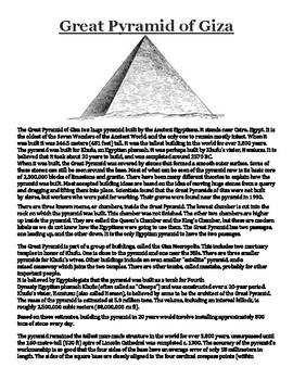 Great pyramid of Giza Handout