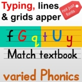 Great tool for teaching ENG, tpying then lines grids apper
