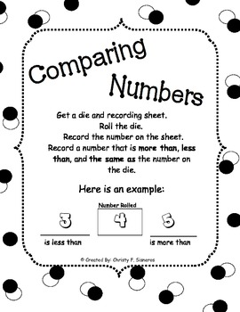 Great with CCSS Comparing Numbers More Less Same
