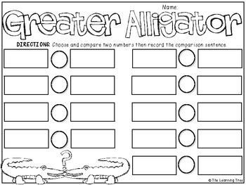 Greater Alligator {Greater Than/Less Than} FREEBIE
