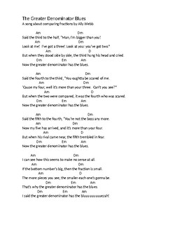 Greater Denominator Blues Lyrics and Chords