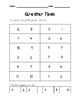 Greater & Fewer Comparing Numbers 0-10