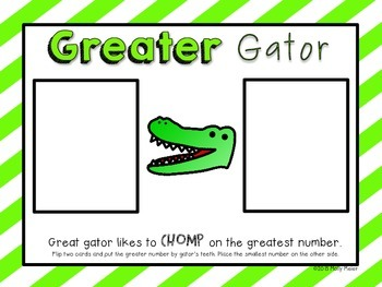 Greater Gator - Comparing Numbers