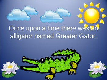Greater Gator- Comparing Numbers Power Point lesson