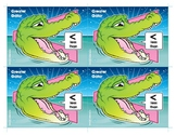 Greater Gator (Less Than) Number Buddy Card