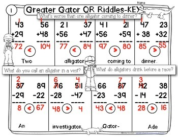 Greater Gator QR code riddles