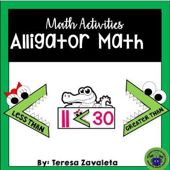 Greater  & Less Than Alligator Math