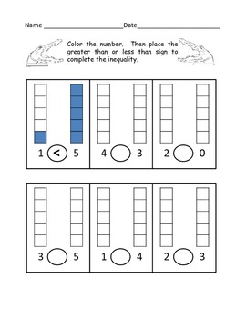 Greater & Less Than Practice and Assessments (Beginning Inequalities) - K-1st