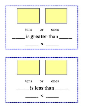 Greater/Less Than Student Board