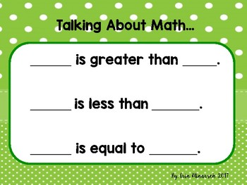Greater/ Less than/ Equal to Lesson