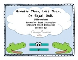 Greater Less than or Equal Place Value Differentiated/ Formative based unit CCSS