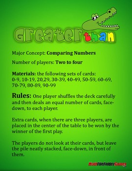 Greater Than: Comparing Numbers