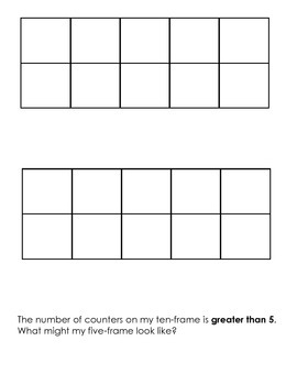 Greater Than, Less Than (1-10)  Math Journal CCSS aligned