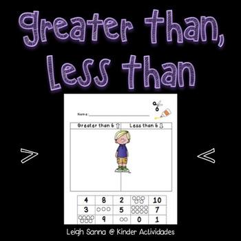Greater Than Less Than Kindergarten Sort