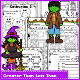 Comparing Numbers Worksheets - Halloween