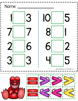 Greater Than Less Than Alligator Worksheets