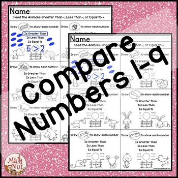 Greater Than Less Than Practice Comparing Numbers 1-9