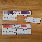1st Grade Greater Than Less Thans Game Puzzles Comparing Numbers 2 Digit 1.NBT.3