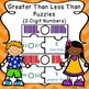 Greater Than Less Than Game Puzzles for Comparing 2 Digit