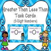 Greater Than Less Than 3 Digit Number Compare Number 2nd Grade Task Card 2.NBT.4