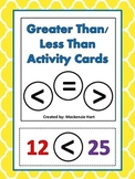 Greater Than/ Less Than Activity Cards