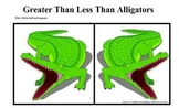 Greater Than Less Than Alligator Dominoes